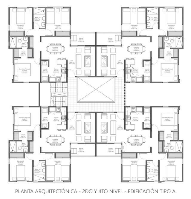 Residencial paseo del sol santo domingo este mai r f for Planta arquitectonica pdf